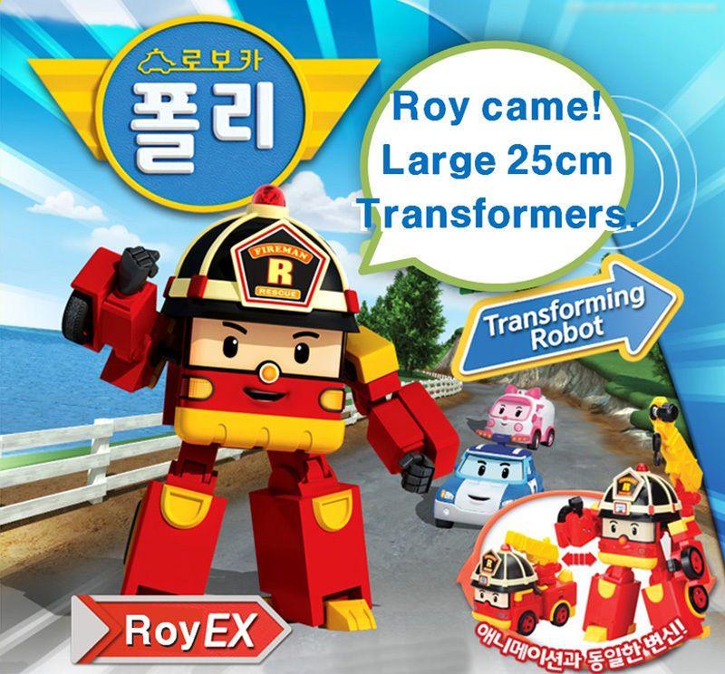 Robocar Poli Roy EX 25cm Big Jumbo Size Transformers Robot
