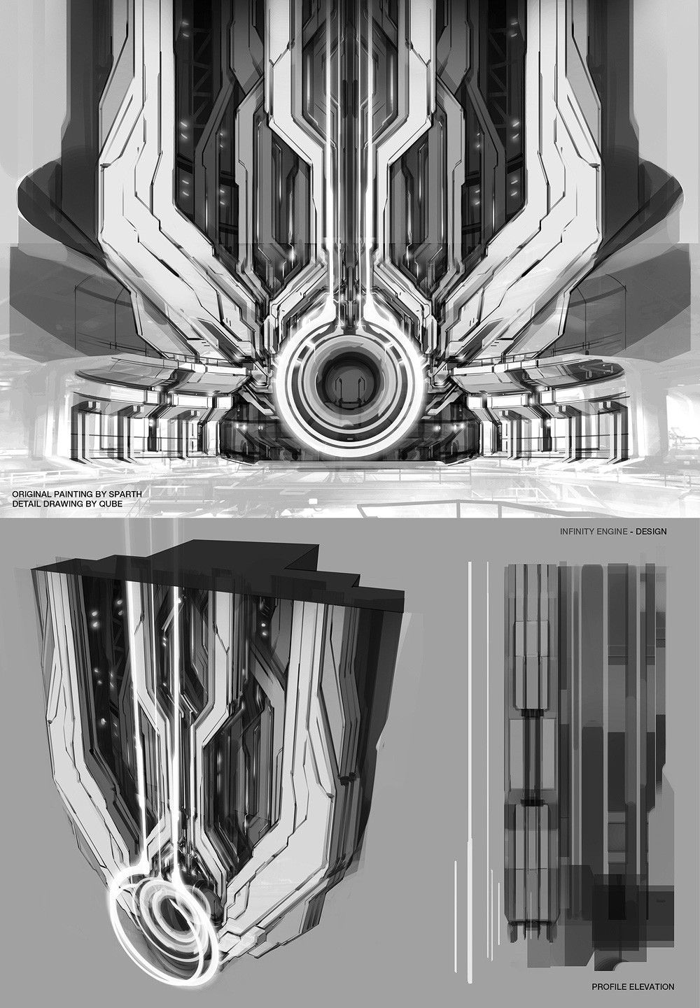 Spaceship Engine Room: UNSC Infinity Engine / Engine Room