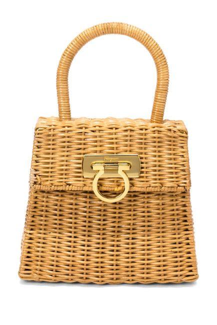 e51dfcf68d Image of Vintage Salvatore Ferragamo Vintage Ferragamo Plastic Wicker Bag