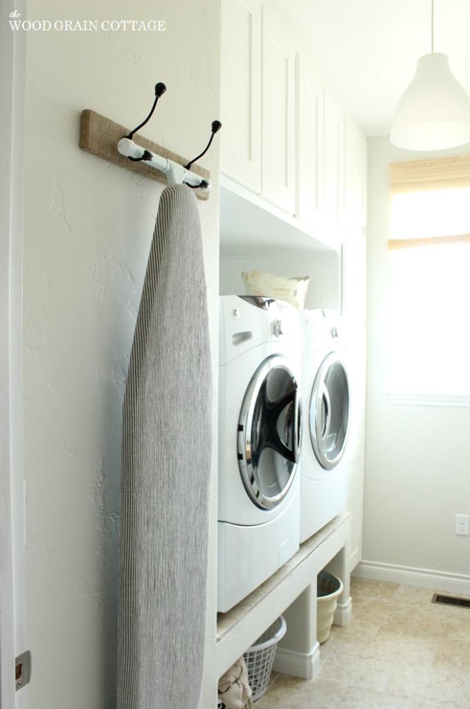 Hanging Ironing Board Rack Laundry Room Organization