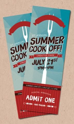 Product Recipes Create a Summer Event Ticket Event ticket and