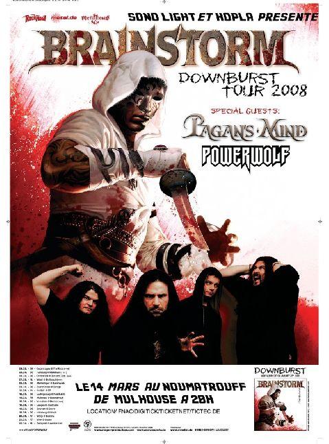 Brainstorm, Pagans Mind, Powerwolf @ Neue Stadthalle Langen in Langen, Hessen - 16. März 2008