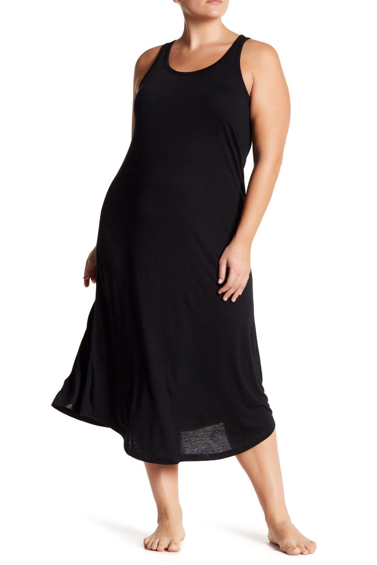 fortably you Sleeveless Sleep Maxi Dress Plus Size