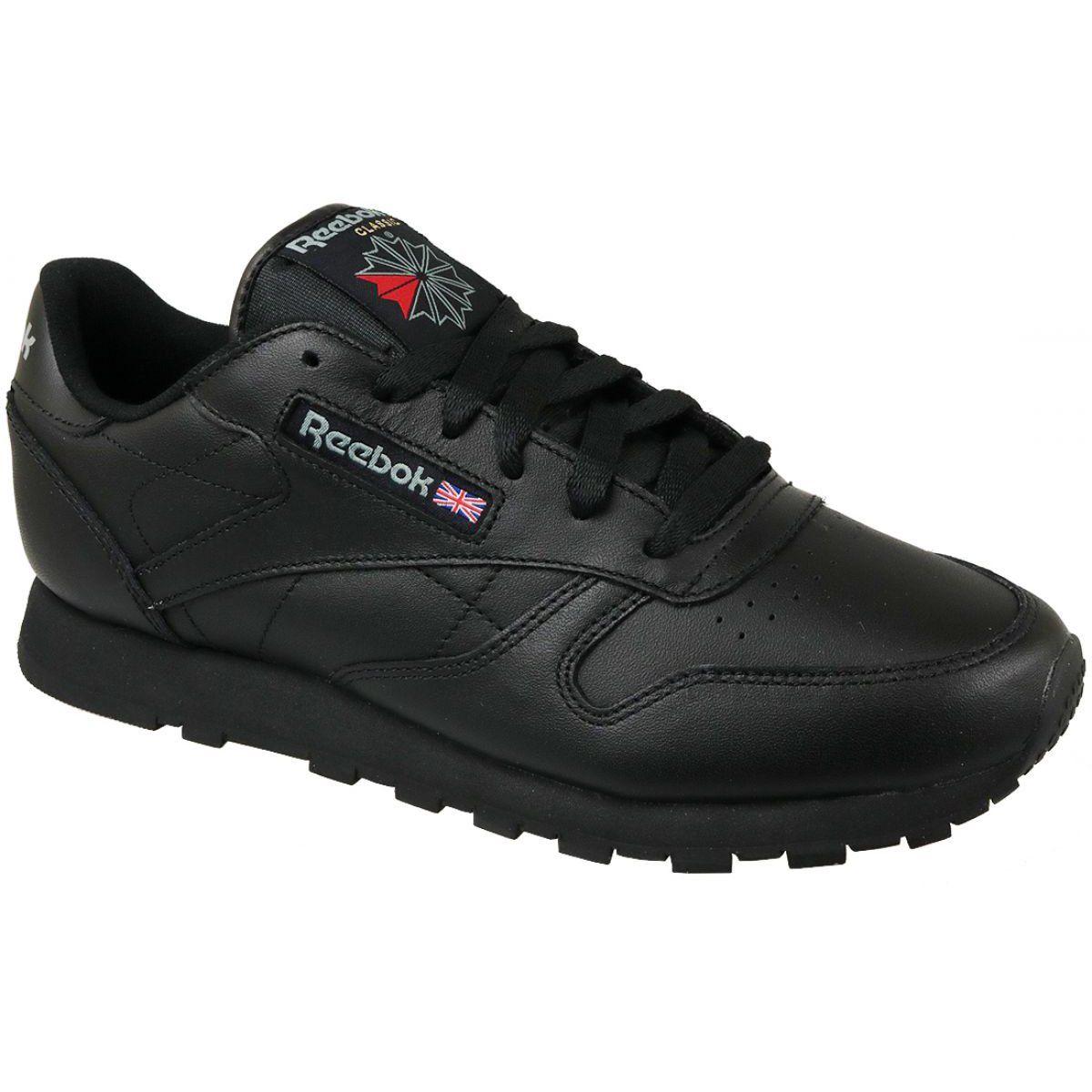 Buty Reebok Classic Leather W 3912 Czarne Reebok Classic Sport Shoes Women Black Shoes
