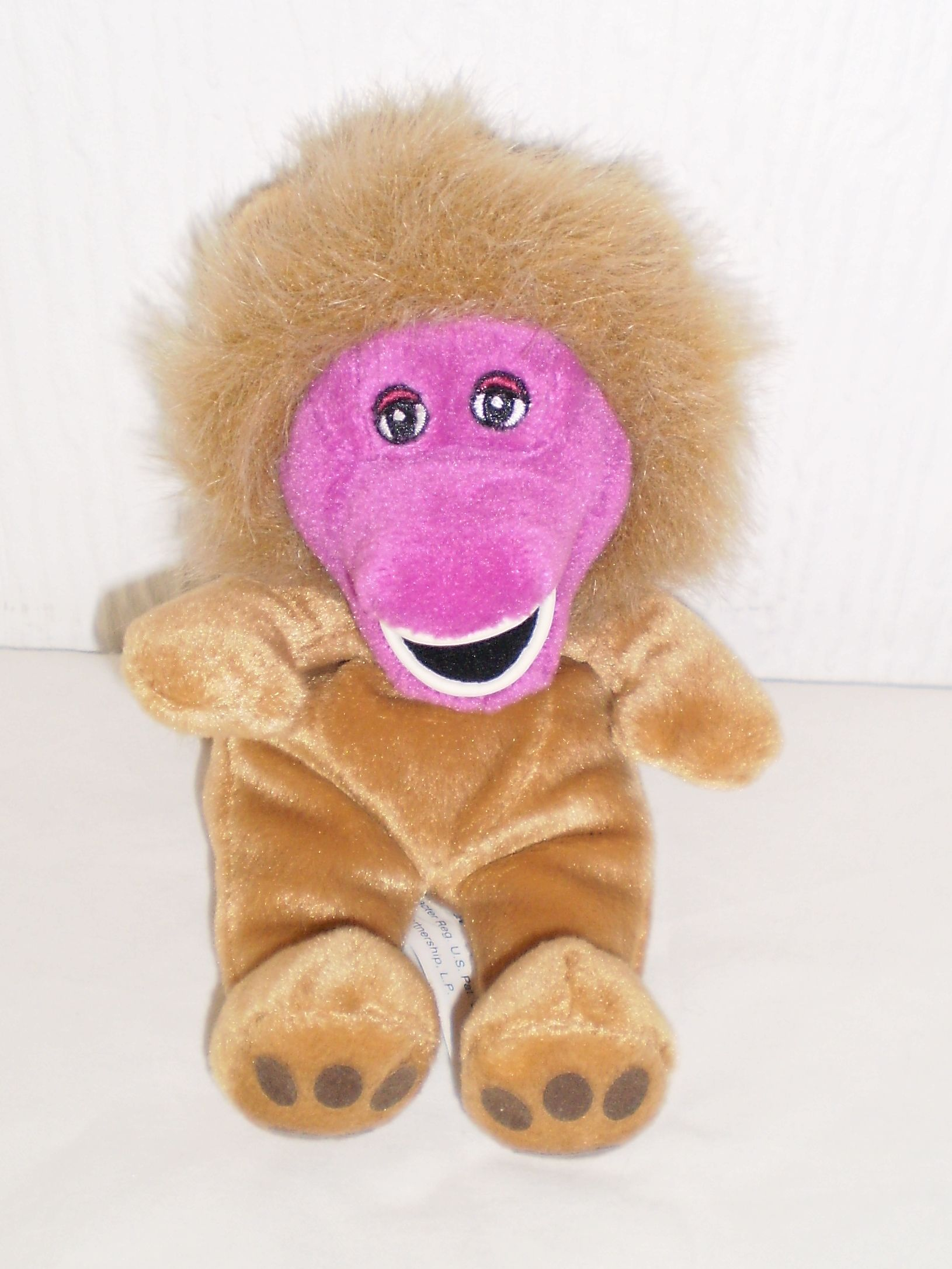 BARNEY The Purple Dinosaur Lion Body Beanie Soft Toy Collectable ... 3900f74a3ed8