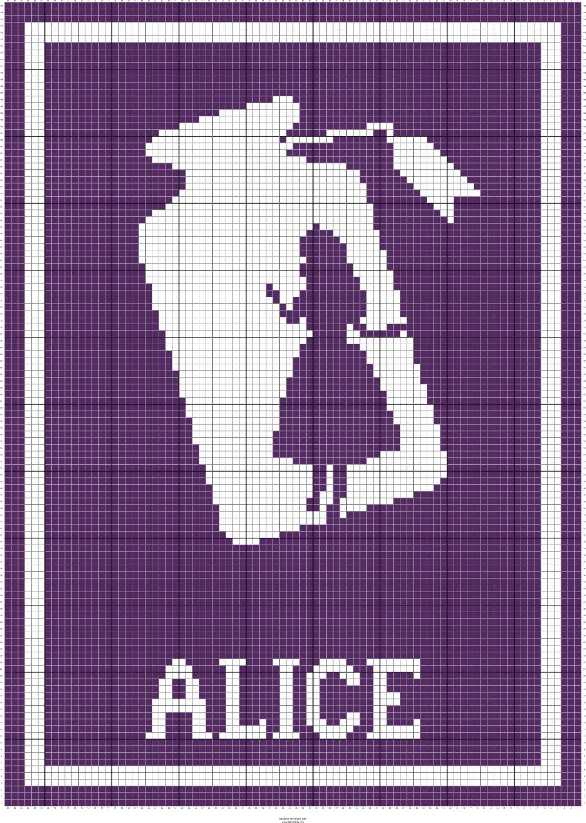 ALICE BOTTLE 86 X 120 GRAPH SQUARES | Crochet Charts | Pinterest ...