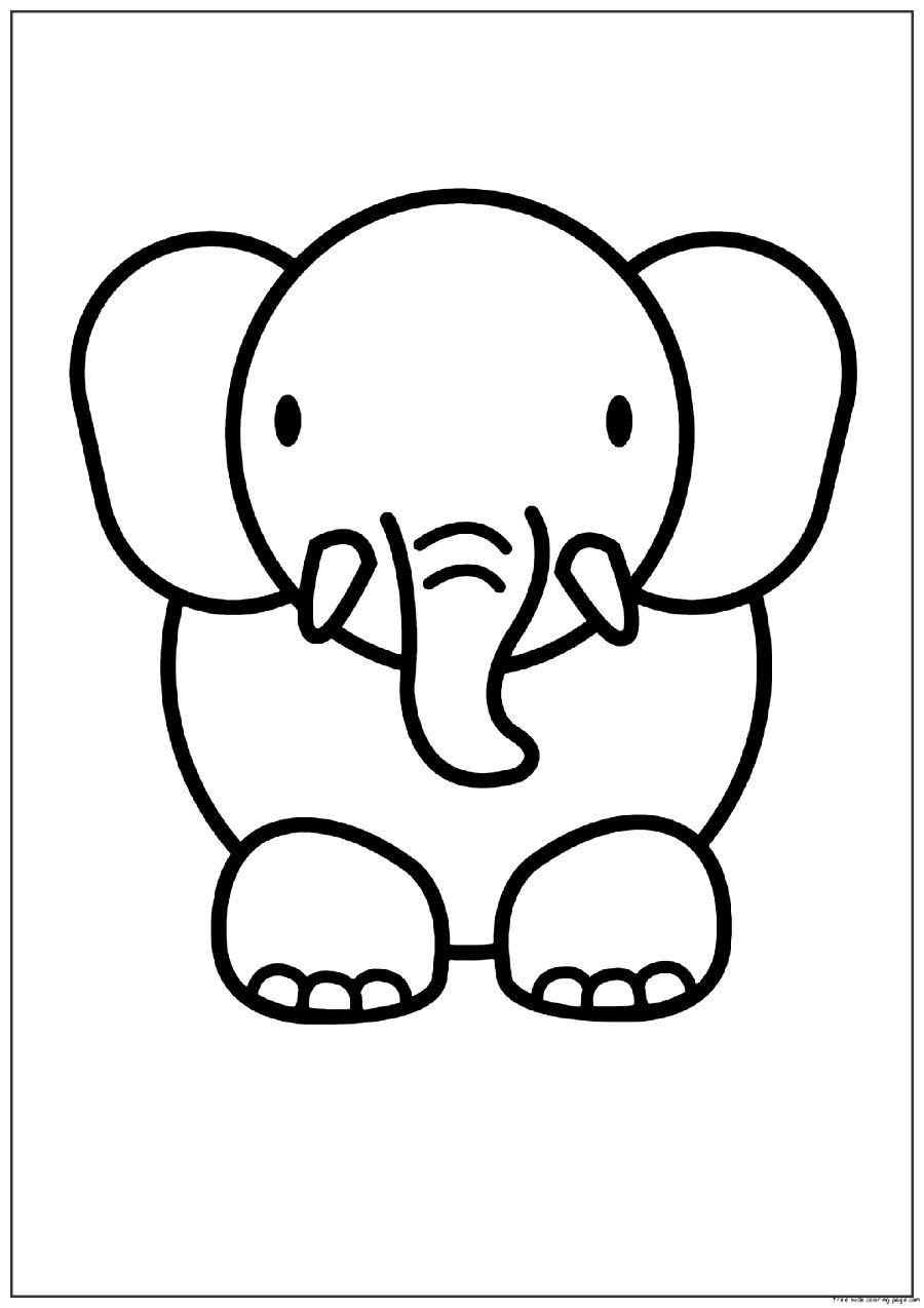 Imagenes De Elefantes Para Colorear Dibujos Bonitos De Animales