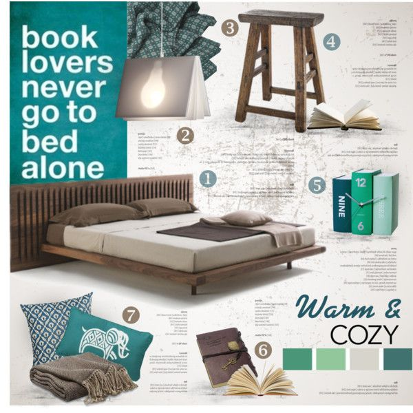 Take Books to Bed by nyrvelli on Polyvore featuring interior, interiors…