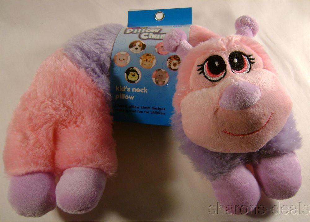 Pink Caterpillar Neck Support Pillow Kellytoy Chums Kids