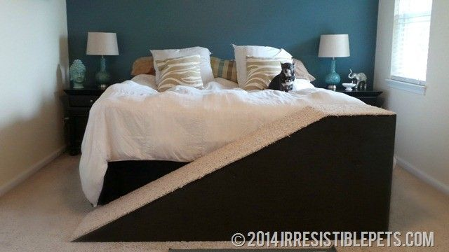15 Diy Projects To Make Your Dog Happy Dog Ramp For Bed Diy Dog