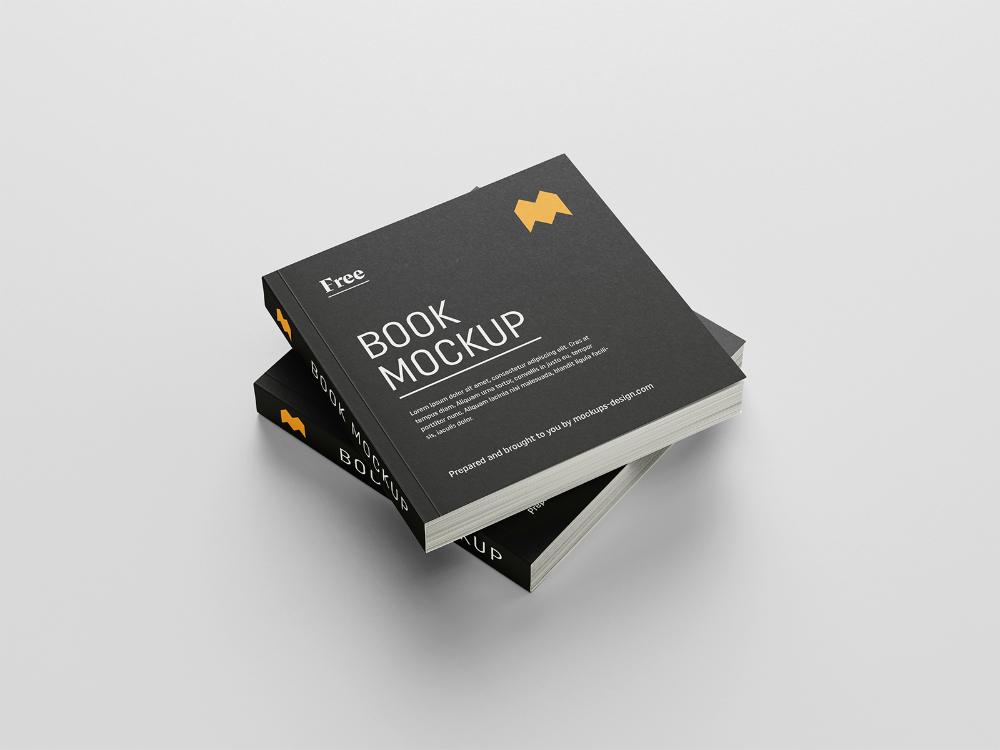 Free Square Book Mockup Free Mockup Mockup Design Mockup Free Psd Mockup Free Download