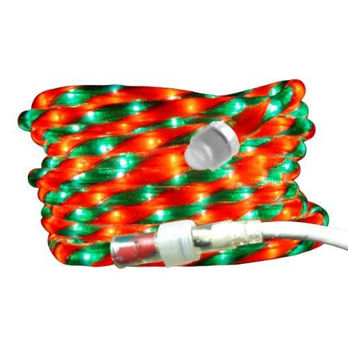Red & Green Candy Cane Rope Lights