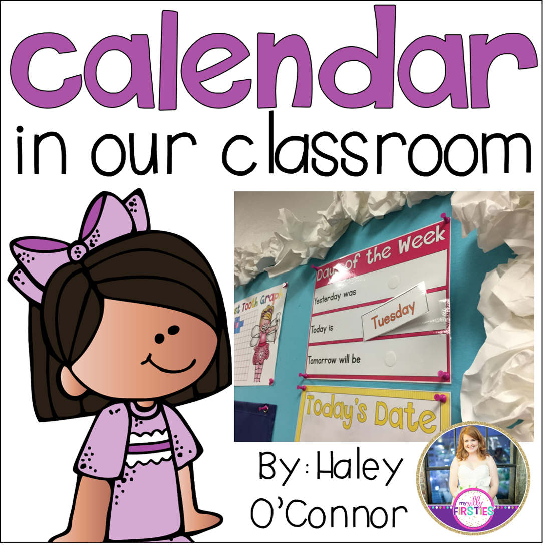 Primary Chalkboard Calendar Time In Our Classroom