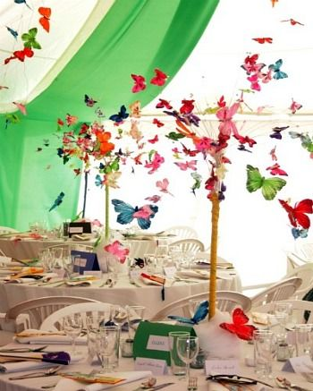 decoration butterfly centrepieces wedding