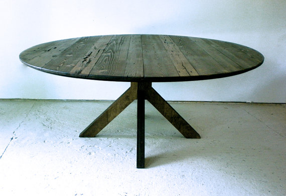 Round Wood Table Reclaimed Wood Dining Table Wood Dining Table