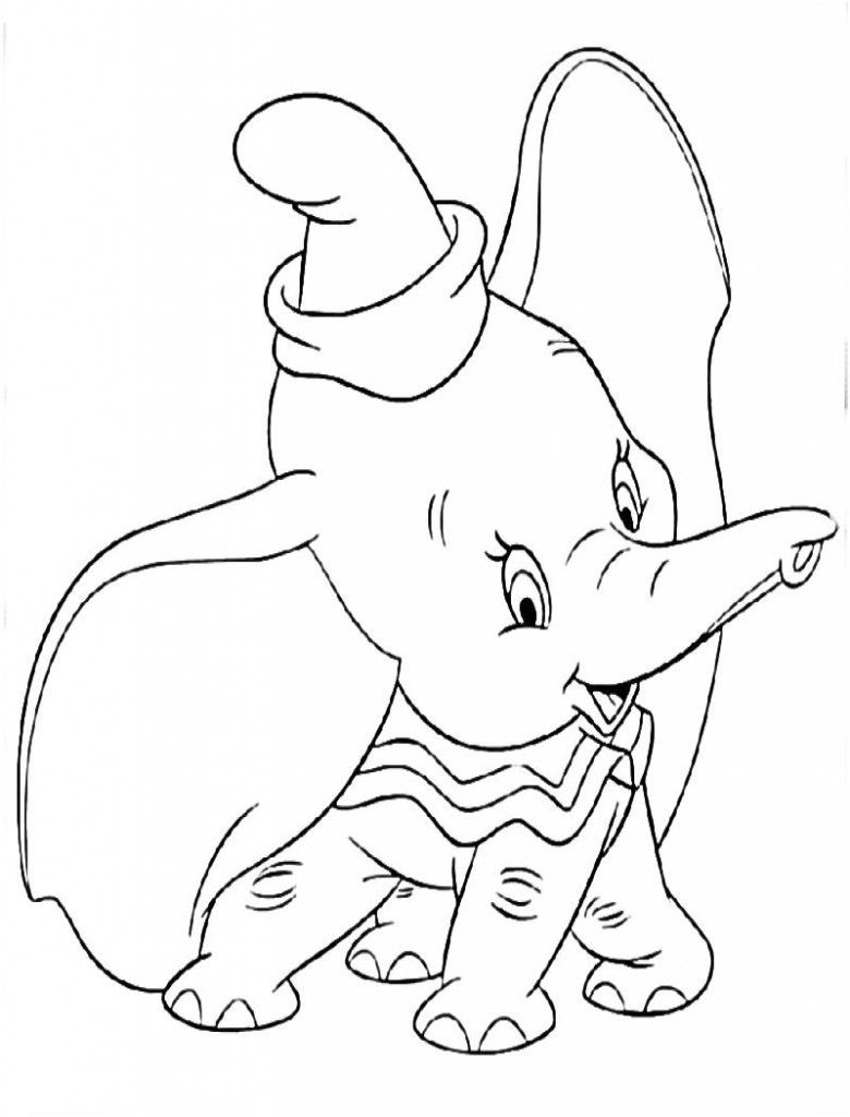 Desenhos Do Dumbo Para Colorir E Pintar Em 2020 Paginas Para