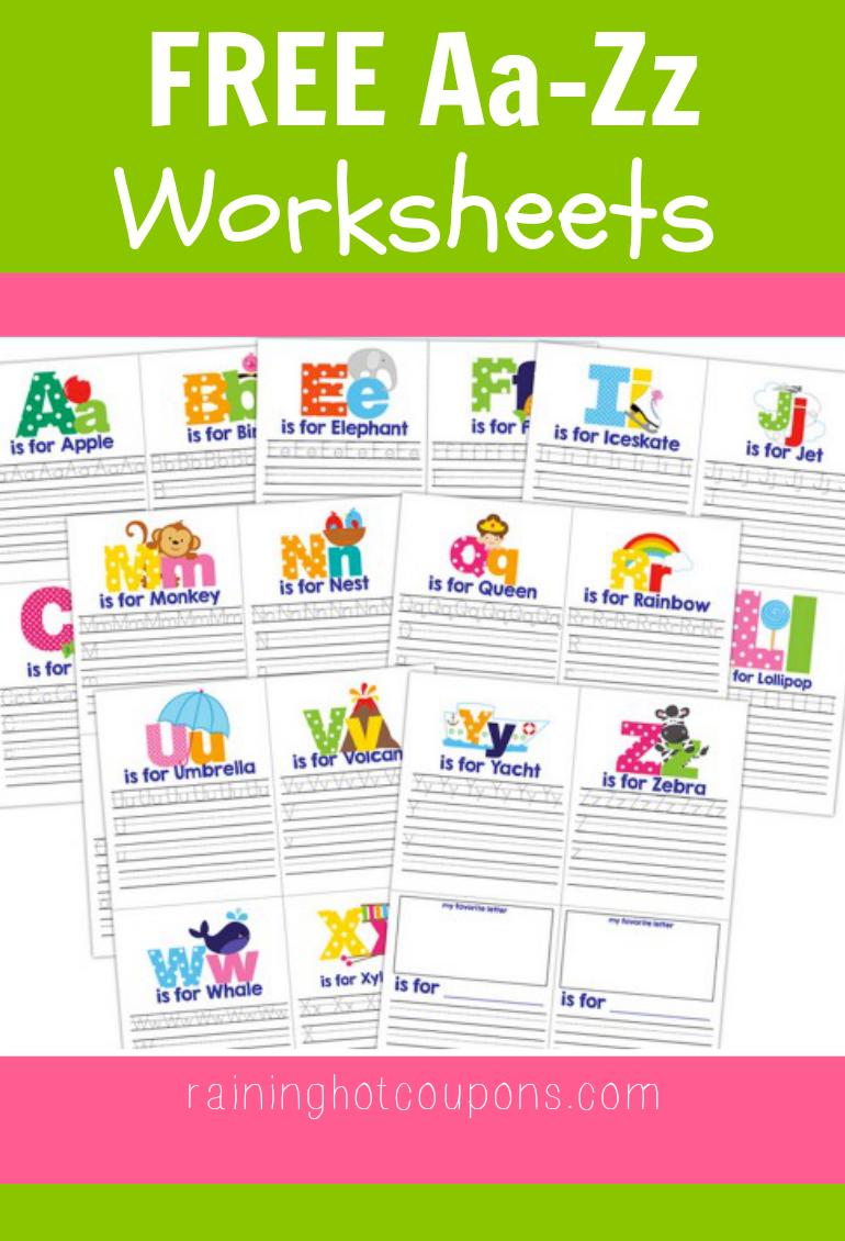 free aa zz worksheets alphabet kids education preschool learning teaching kids. Black Bedroom Furniture Sets. Home Design Ideas