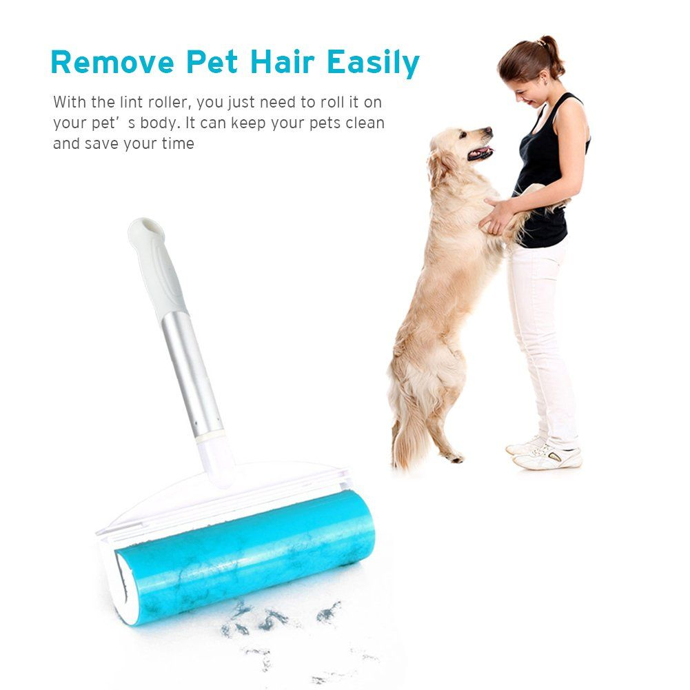 Pet Hair Remover And Travel Lint Roller For Dog Hair Furniture Clothes Bathroom Rugs Speaker Grilles High Chairs Strolle Pet Hair Pet Hair Removal Dog Stroller