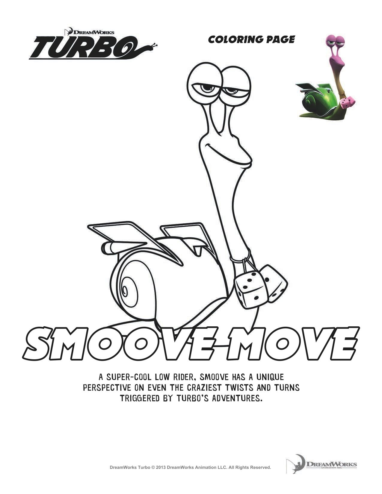Turbo Smooth Move Coloring Sheet Coloring Pages Printable Coloring Pages Color By Numbers