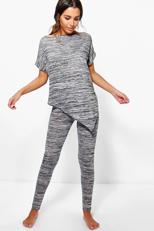 Louise Asymmetric Tee Knitted Loungewear Set