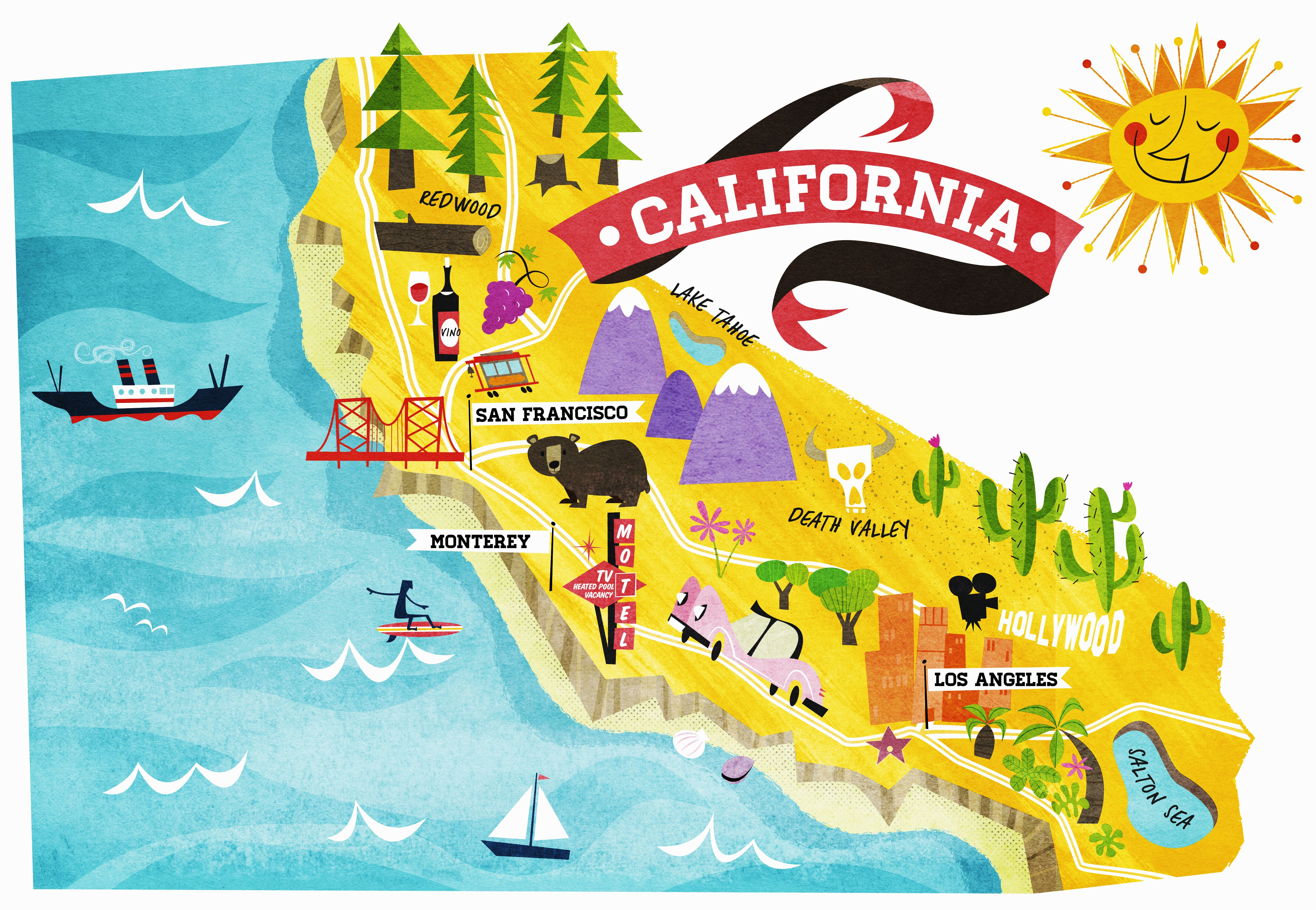 Things You May Not Know About California History In The - California on a us map