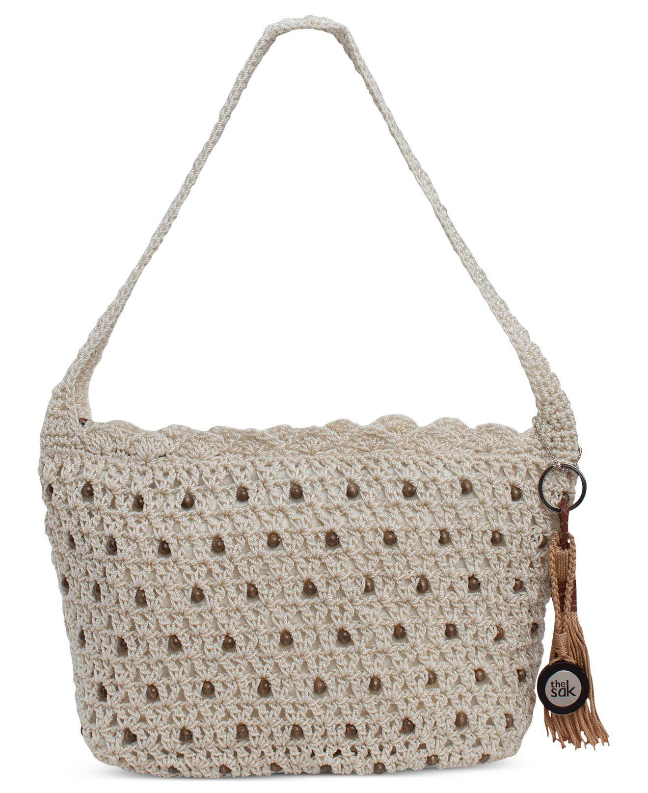 Os Sak Classics Casual pequeno Crochet Hobo - Bolsas e Acessórios ...