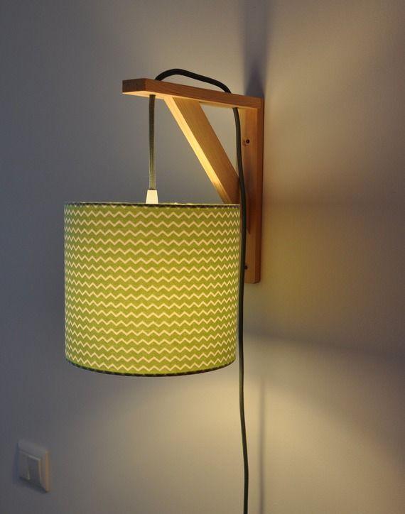 Murale Vert Chevron Équerre Applique Luminaire Lampe IE29DH