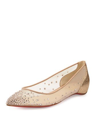 f9e1b34a74d Body Strass Pointed-Toe Ballerina Flat