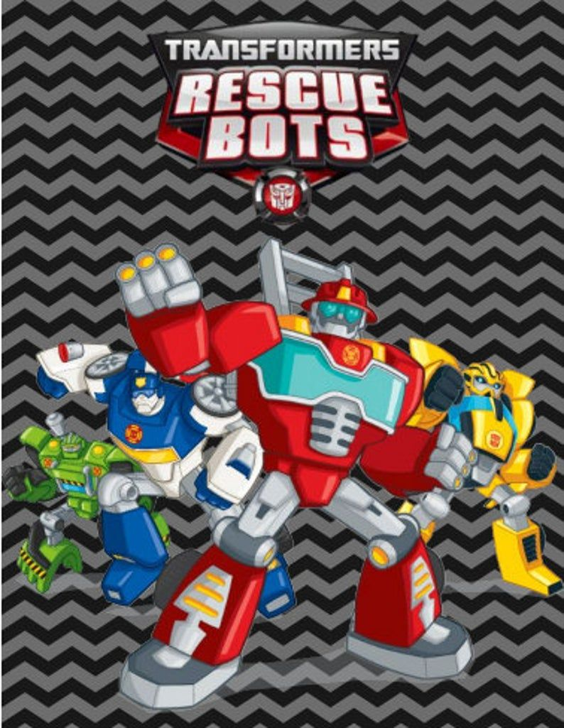 Printable Rescue Bots Note Cards INSTANT DOWNLOAD in 2020 ...