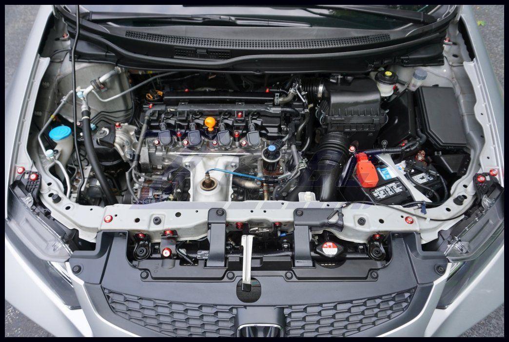 Honda Civic Coupe 2012 2013 2014 1 8l Ultimate Engine Bay Dress Up Fastener Kit Zspecdesign Instagram Fa Automotive Accessories Honda Civic Coupe Civic Coupe