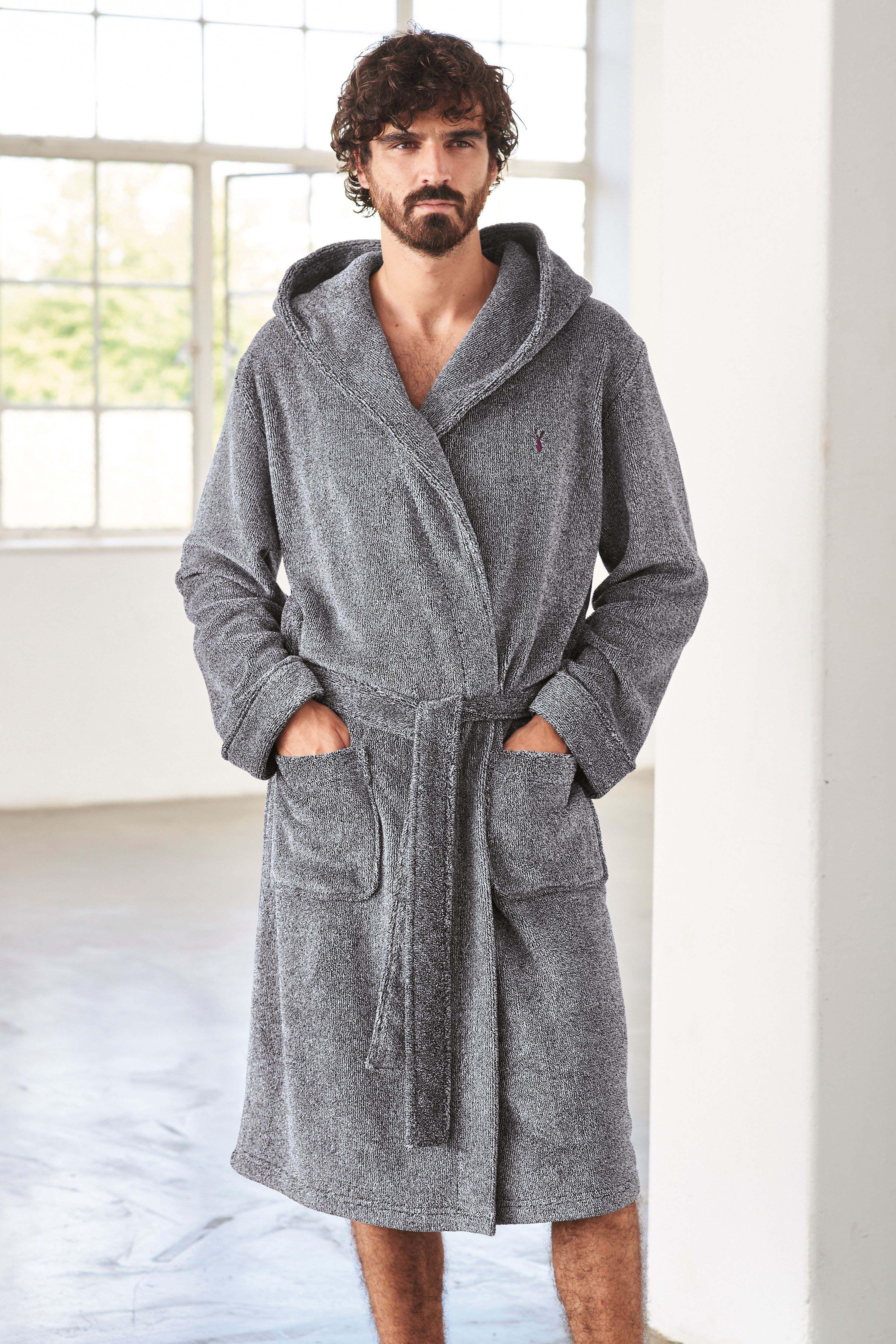 Grey Super Soft Hooded Dressing Gown | Lounge wear, Dressing