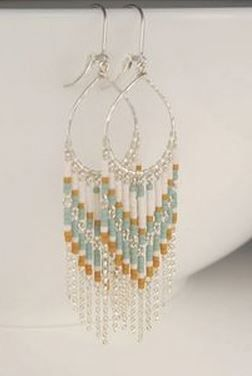Pin by patricia rey on inspiring jewelry ideas pinterest beads on sale long beaded earrings chandelier earrings in sterling silver wire wrapped jewelry handmade leverback earrings zola aloadofball Choice Image