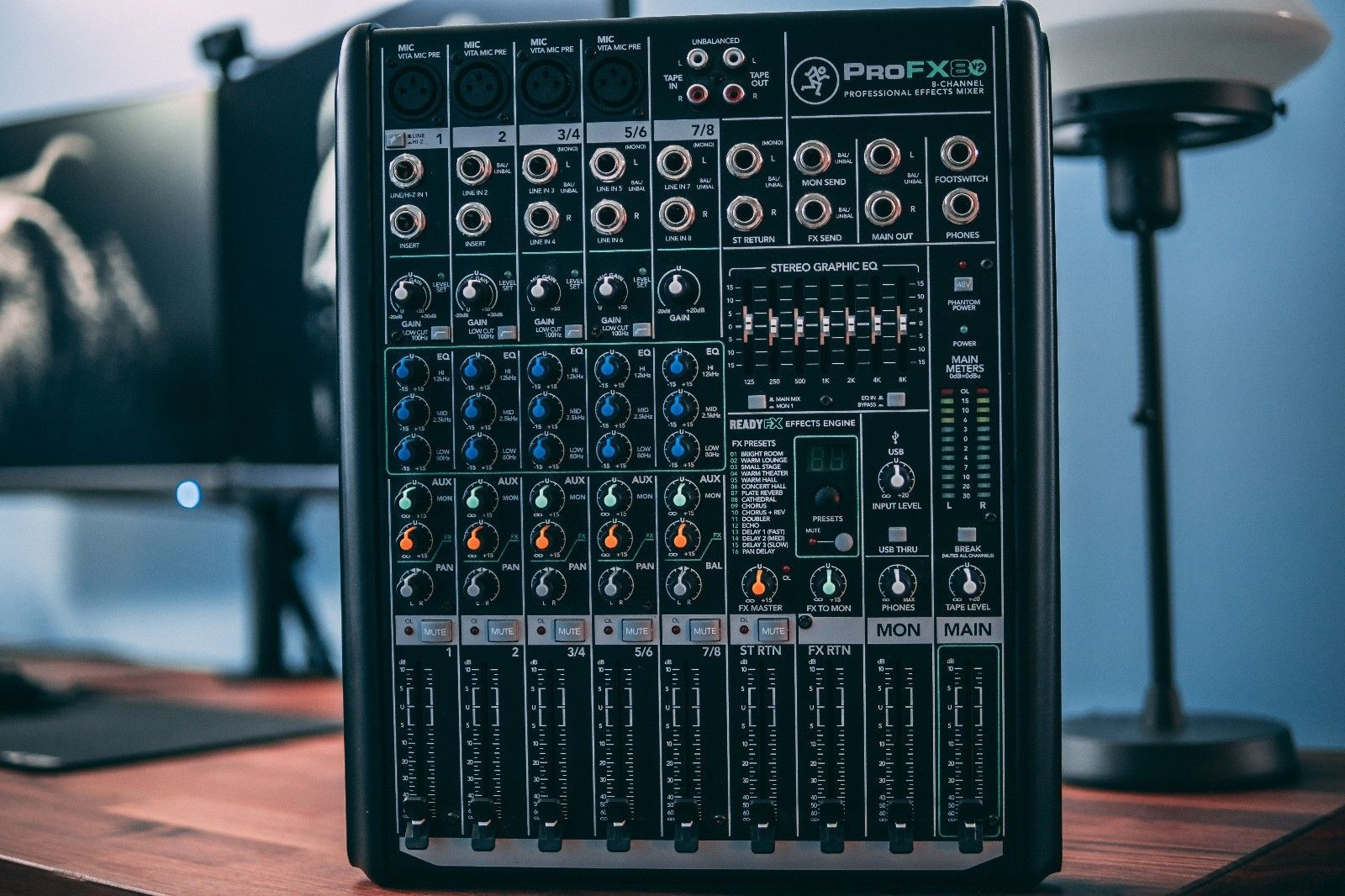 Mackie Profx8v2 8 Channel Professional Audio Mixer With On Board Fx Profx8 V2