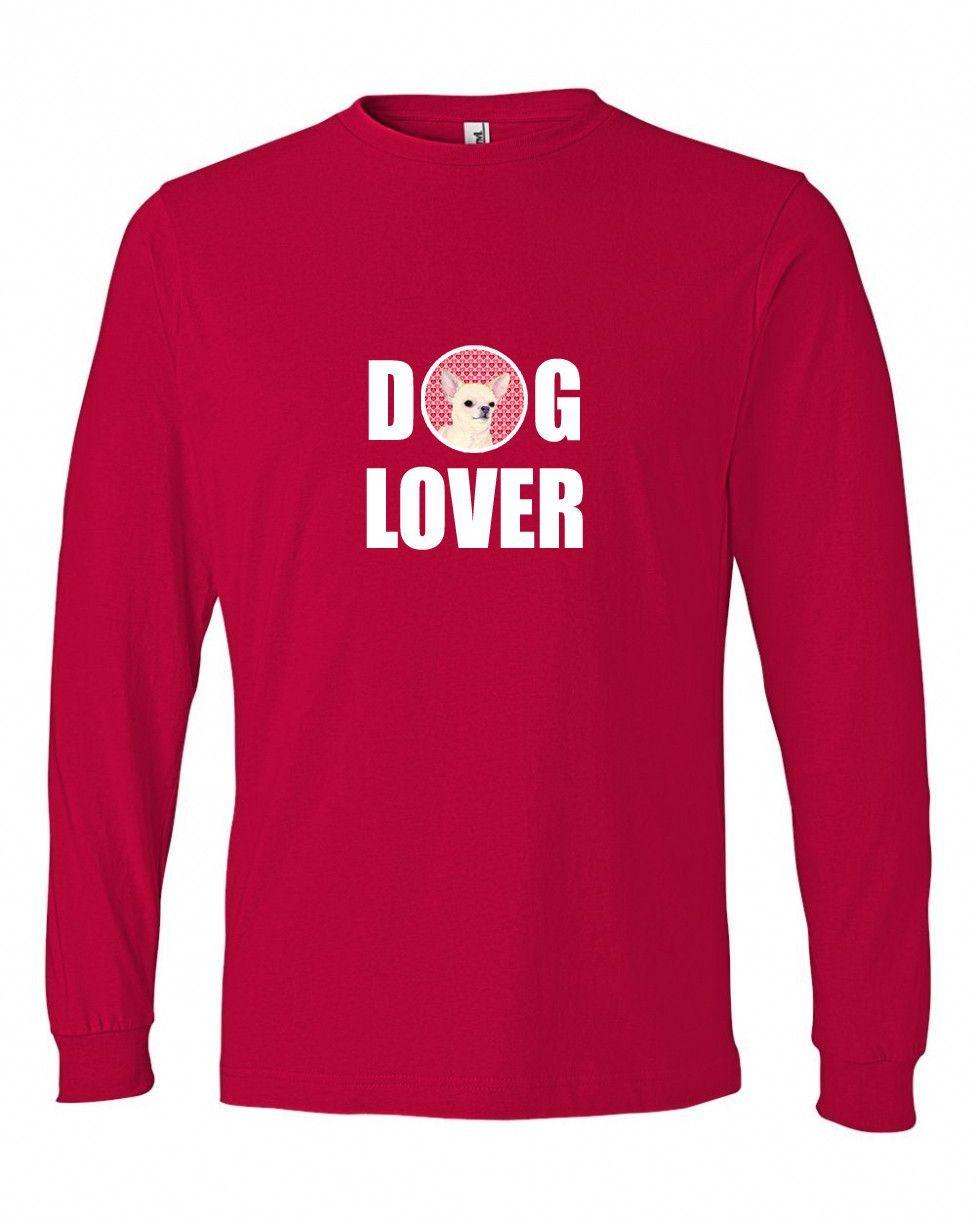Chihuahua Long Sleeve Red Unisex Tshirt Adult 2XL