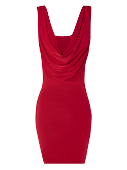 Tempted to buy this for the work party. maybe... hmm! Thoughts?  Jane Norman red back cowl dress