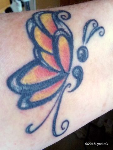I had this tattooed on my left wrist on 7/17/2015 #butterflytattoo #butterfly #tattoo