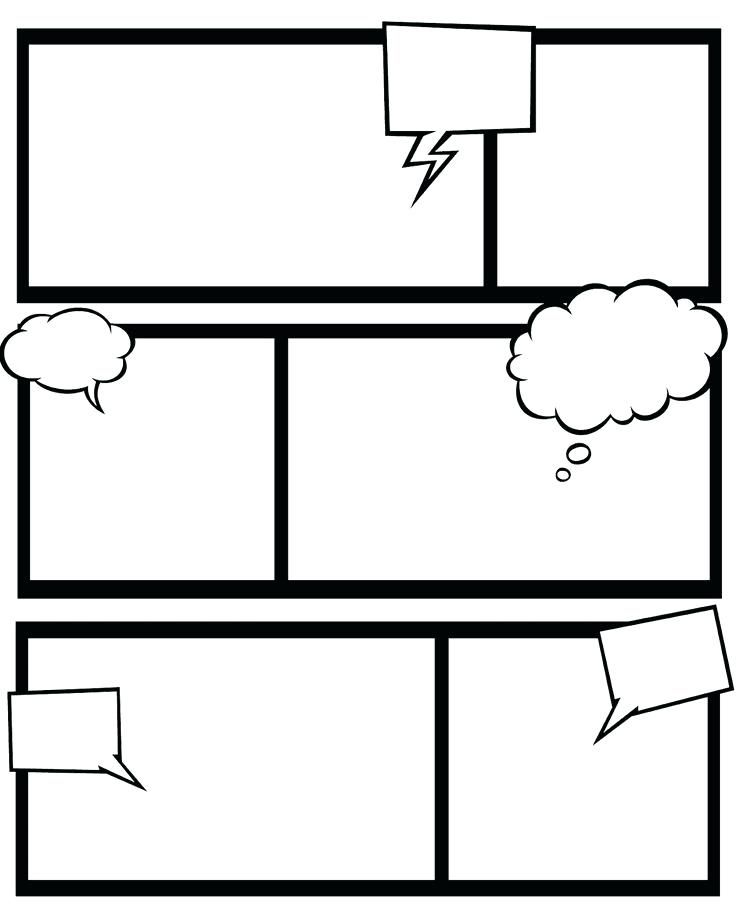 Cartoon Template Worksheet Free Printable Templates Comic Strip For T Comic Book Template Comic Strip Template Comic Template