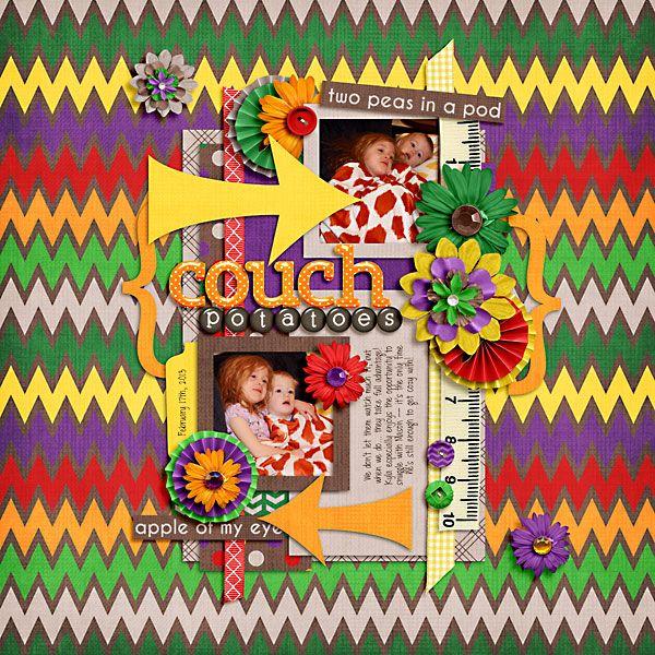Digital Scrapbook Layout by Melissa | Healthy Stealthy Kit | Bella Gypsy Designs
