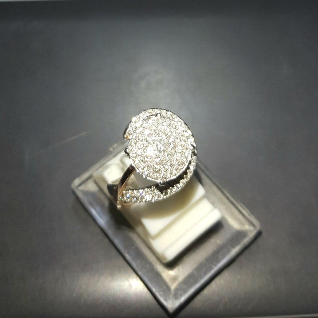 Cincin Emas Berlian Mode Bulat Hrg Cuci Gudang Toko Perhiasan 1 Set Titanium