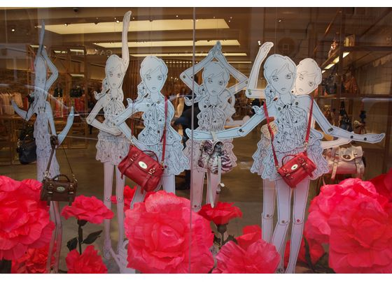 paper dolls in the mulberry windows/ london 2011