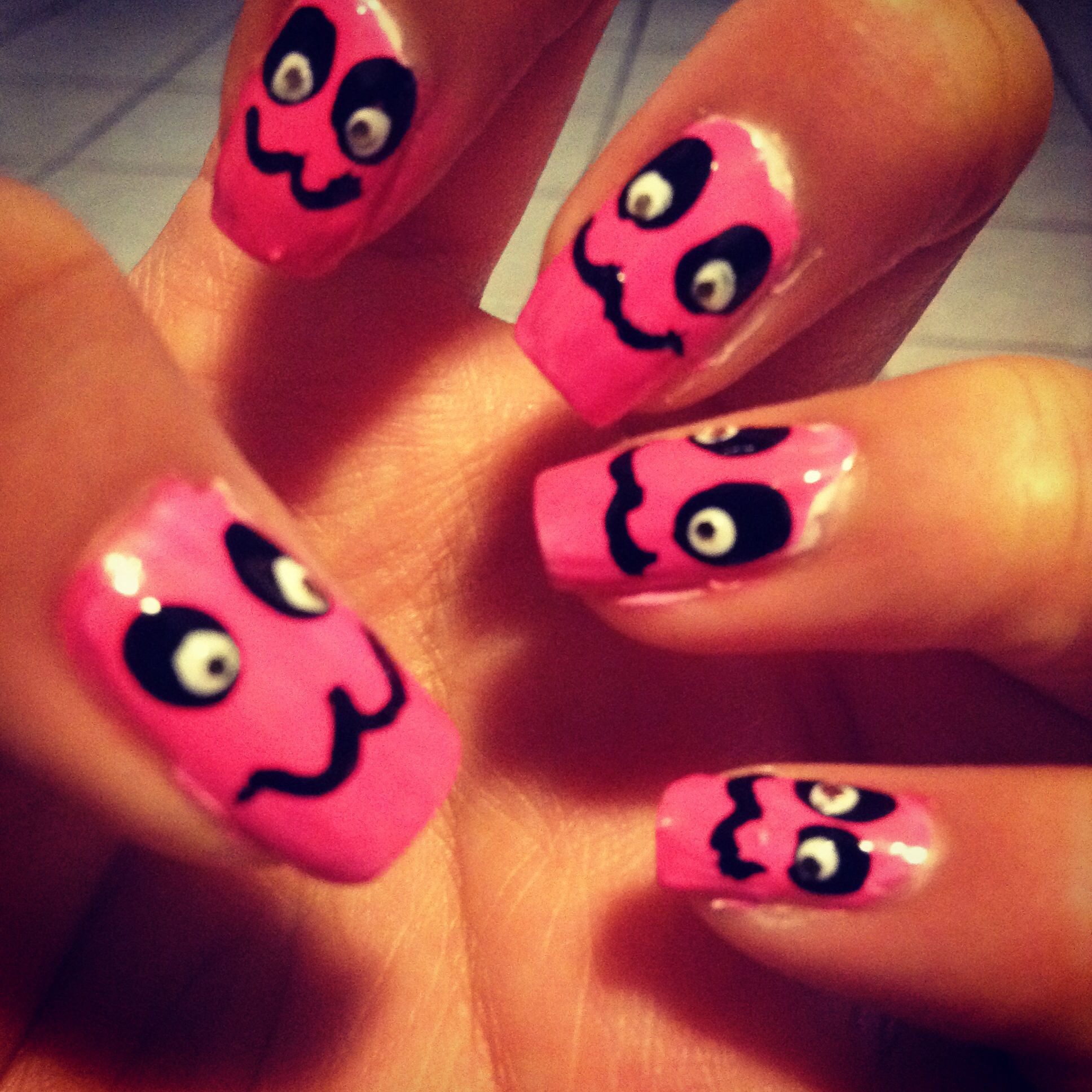 Nails I made #nails #naildesign #girly