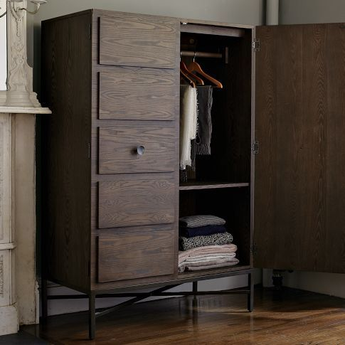 West Elm Wardrobe Diy We Could Repurpose Our Hideous Entertainment Center Into Something Similar Furniture Dining Room Storage Diy Furniture