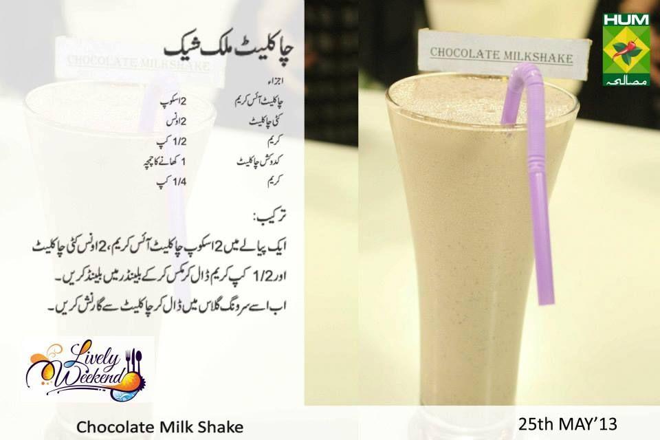 Chocolate Milk Shake Recipe Chocolate Milk Shake Recipe In