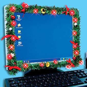 Computer Monitor Light Up Usb Christmas Garland Gift