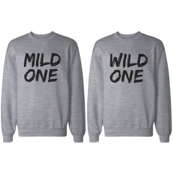 538c0656d Amazon BFF Shirts - Mild One and Wild One Matching Grey Sweatshirts for Best  Friends