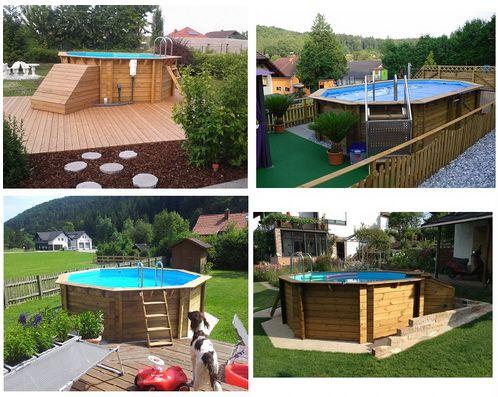 ber ideen zu holzpool auf pinterest naturschwimmteich schwimmbecken und luxus baumhaus. Black Bedroom Furniture Sets. Home Design Ideas