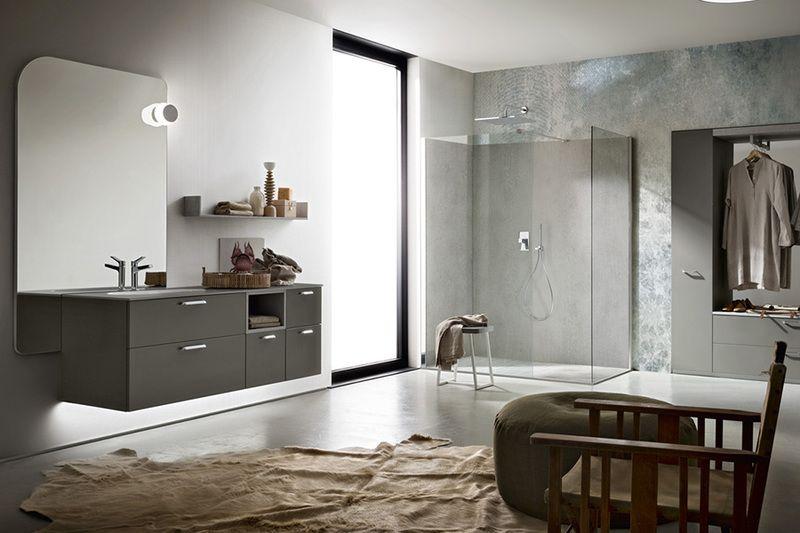 composizione bagno Cerasa effetto cemento, vasca ocritec ...