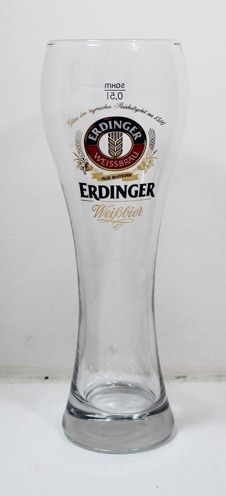Erdinger Weissbrau Beer Glass Trumpet Style 0.5l | EBay ...