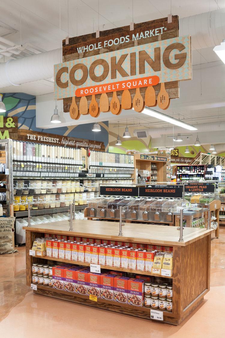 Gallery Whole Foods Market Roosevelt Square Messenger Supermarket Design Environmental Design Market Signage