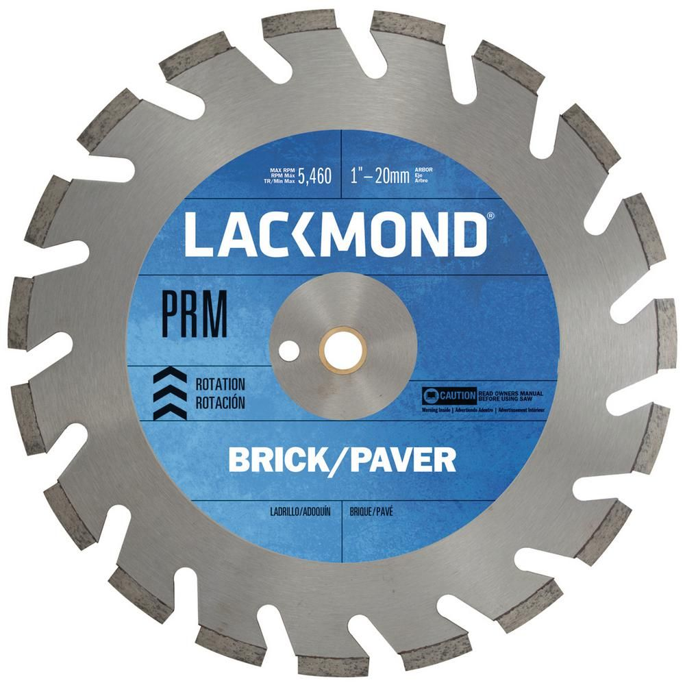Lackmond 12 In Slant Slot Diamond Blade For Extremely Hard Brick Pavers And Stone Blade Circular Saw Blades Brick Pavers
